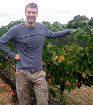 Darren in the vineyard